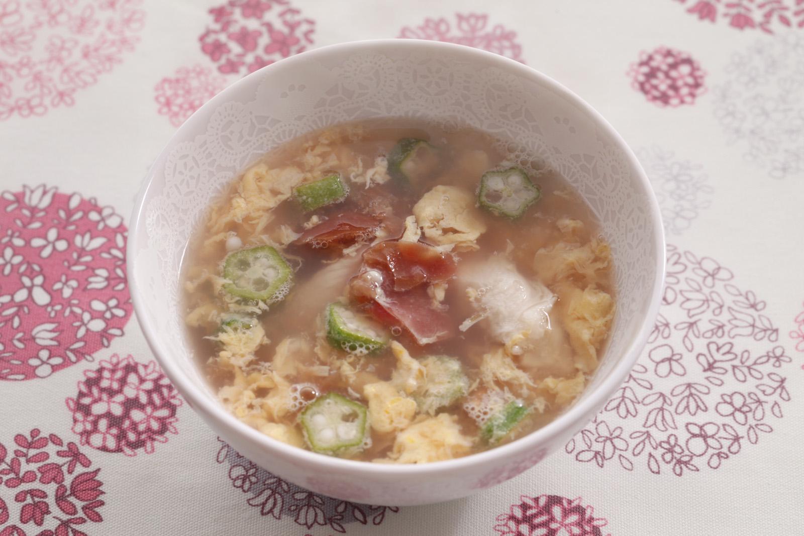 梅とささみのスープ