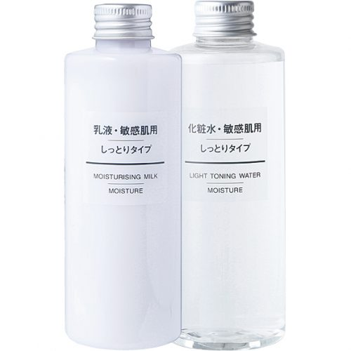 無印良品 化粧水・敏感肌用・しっとりタイプ、同 乳液・敏感肌用・しっとりタイプ
